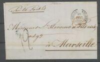1854 lettre CAD ST PIERRE MARTINIQUE + Colonies Rge par le RACKET  TTB H2163