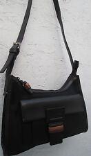 -AUTHENTIQUE sac à main MISSONI  cuir & toile TBEG vintage bag