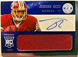 JORDAN REED RC AUTO JSY TOTALLY CERTIFIED FRESHMAN FABRIC AUTOGRAPH #'D /99