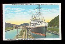 1920's Postcard Ss Virginia in Pedro Miguel Locks Panama Canal B3553