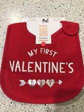 My First Valentine/'s Day Adorable Infant Feeding Bib  NEW with Tags