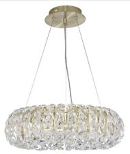 John Lewis Bangles Small Crystal Ceiling Light, Clear/Satin Brass