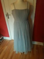 Frank Usher vintage baby blue ball gown with beaded top 1980s. Size 10/12