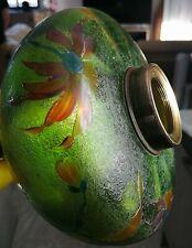 Magnifique reservoir De Lampe à pétrole a l'acide.Baccarat Oil lamp. '