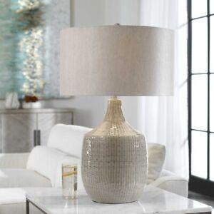 """FELIPE UPSCALE MODERN 29"""" CERAMIC TABLE LAMP UTTERMOST 28205"""