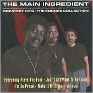 THE MAIN INGREDIENT : GREATEST HITS (CD) sealed