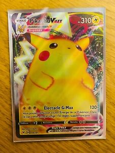 Carte Pokémon Pikachu Vmax 044/185 FA EB04 Voltage Eclatant FR Neuf
