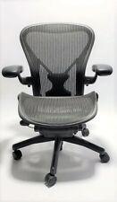 New listing Herman Miller Aeron Mesh Chair Large C fully adjustable Posture fit black mesh
