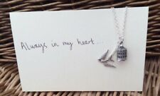 One Direction 1D Inspired Birdcage Bird Charm Necklace Larry Stylinson AIMH