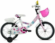 Vélo t671 Fée Clochette 16 Petite Fille 1v Blanc Rose 19T671 Torpado Vélo