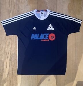 PALACE X ADIDAS FW16 DEADSTOCK AWAY NAVY FOOTBALL JERSEY SIZE LARGE TRI-FERG