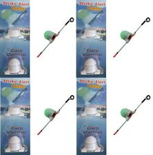 kit 4 segnalatori abboccata visivi elettronici pesca fondo surfcasting siluro