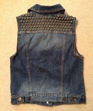 EUC! Women's BDG Denim Studded/Embellished Button Up Vest Sz S-P