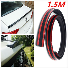Universal Black Flexible Car Trunk Lip Roof Spoiler Wing Body Kits Trim Stickers