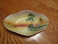 "Antique Hand Painted Nippon - ""Japan"" - Landscape Plate"
