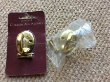 TIE BACK HOOKS (PAIR) FROM JOHN LEWIS - BRASS - EXCELLENT CONDITION