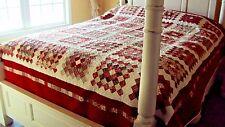 Handmade Christmas Quilt-Patchwork Quilt- Queen Size