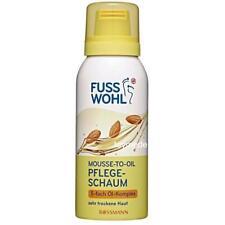 Fusswohl MOUSSE-TO-OIL Pflegeschaum Fusspflege 5-Ölkomplex +Sheabutter Creme