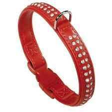 Ferplast Lux C 20/31 Red Dog Collar With Silver Diamante Medium 31cm #28R457