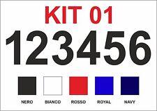 Kit 6 Numeri termosaldabili per maglie Calcio, Volley, Basket, Pallamano