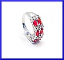 New 925 sterling Silver  Gemstone Six Stone Ring Size 8.5  FREE SHIPPING # 110