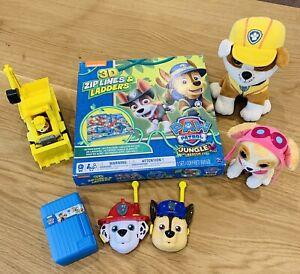 PAW PATROL Bundle Walkie Talkies Soft Toys Digger Shuffle Cards