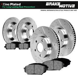 Front+Rear Rotors Metallic Pads For 2009 - 2013 Town & Country Grand Caravan