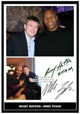 109. mike tyson & ricky hatton  boxing signed a4 photograph reprint great gift