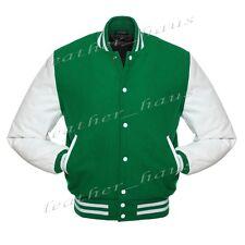 Superb Genuine Leather Sleeve Letterman College Varsity Wool Jackets #W_SL