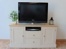 New Solid Pine 4ft Painted TV Stand/Unit/Cabinet In Any F&B Colour