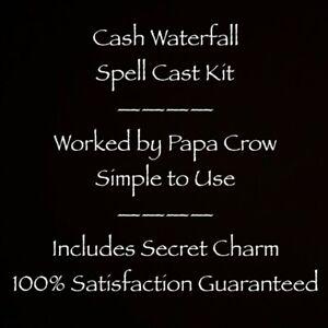 Cash Waterfall Papa Crow Voodoo Charm Money Success Ritual Kit Work Lotto Winner
