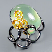 Vintage Natural Prehnite 925 Sterling Silver Ring Size 8/R124878