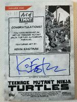 2019 TOPPS ART OF TMNT GREEN AUTOGRAPH KEVIN EASTMAN #45/99 NINJA TURTLES