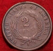 1867 Copper Philadelphia Mint Two Cent Coin