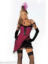 Sexy Cat House Cutie Costume Corset Dress Sheer Ruffle Trim &  Feathers M/L 7413