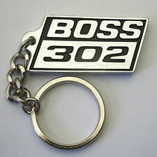 BOSS 302 Keychain Key Chain Black Chrome, Brand New, suit Mustang Ford pony Fans