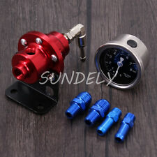 Precision Adjustable Fuel Pressure Regulator Injection / Turbo Car - Red