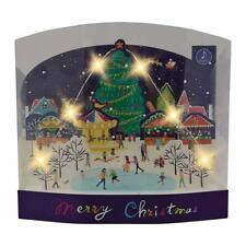 Christmas Night Festival Lights and Melody Pop Up Card / Christmas Card