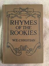 Rhymes Of The Rookies by W.E. Christian 1917 First Edition