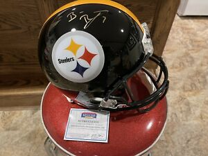 🔥🔥Ben Roethlisberger Signed Full Size Helmet - Mounted Memories - XLIII🔥🔥
