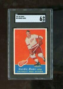 1957 Topps #42 Gordie Howe SGC 6 EX-MT