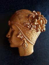 ART DECO gold Lady visage plâtre mural décoratif Plaque ART NOUVEAU NEW