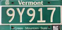 """Vintage VERMONT 1996 """"5-Number"""" License Plate ~ Green Mountain State Tag """"9Y917"""""""