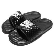 Ciabatte Nike Benassi Slider nere con Logo Unisex 343881-031 40 1/2 8000000575074