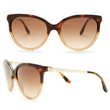 Bvlgari Cat Eye Acetate Metal With Crystals Sunglasses Havana Brown Gradient