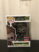 Television The Simpsons Treehouse Of Horror Werewolf Bart 2020 NYCC Funko Pop