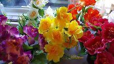 Joblot of 24 Silk Artificial Flower Hanging Basket table Decorations wholesale