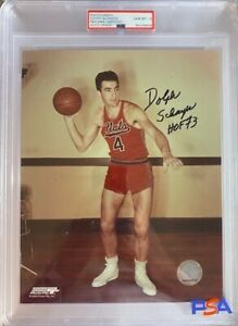 DOLPH SCHAYES NATIONALS HOF 8 x 10 PHOTO PSA DNA Encapsulated AUTOGRAPH GRADE 10