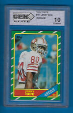 1986 TOPPS JERRY RICE #161 RC GRADED PRISTINE 10 SAN FRANCISCO 49ERS