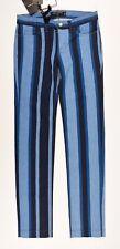 DOLCE & GABBANA Women's Blue Striped Denim Fit Trousers, sizes UK 4 6